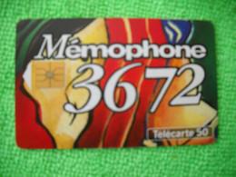 7136 Télécarte Collection MEMOPHONE 3672 France Télécom   50u  ( Recto Verso)  Carte Téléphonique - Operatori Telecom