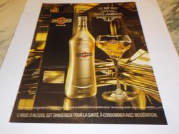 PUBLICITE  MARTINI GOLD  2011 - Alcools
