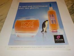 PUBLICITE LE SEUL ROSE RECOMMANDE AVEC DES GLACONS 2012 - Alcools