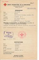 Red Cross Message – Service Belge - UK 25.2.44 Vers Stalag XI A - Réponse Verso + Colis De Vivres. - RR - Covers