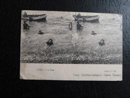 Z33 - 75 - Vues Stereoscopiques Julien Damoy - Le Bain - A La Nage - Bains De Mer 1900 - Zwemmen