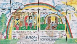 "YUGOSLAVIA / SERBIA-MONTENEGRO / JUGOSLAWIEN / SRBIJA - EUROPA 2006- TEMA ""INTEGRATION"".- SOUVENIR SHEET - Mint - 2006"