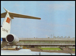 MINSK, BELARUS (USSR, 1985).  AIRPORT. Unused Postcard, AEROFLOT Edition - Aeródromos