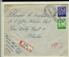 Env. Entière N° 1029 Et 1068 Obl. Postes - Posterijan - BPS 14 Du 04/06/59 En Rec.    Port Exact - 1953-1972 Anteojos