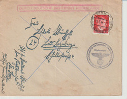 Deutsche Dienstpost Niederlande, Mi. 788 Den Haag 19.2.44, Der Reichskommissar... - Occupation 1938-45