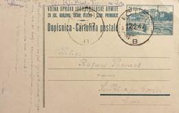 Cartolina Militare - Vojna Uprava Jugoslovenske Armije - 1947 - Altri