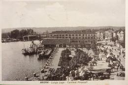 Cartolina - Arona ( Novara ) - Lungo Lago - Cantiere Piroscafi - 1924 - Novara