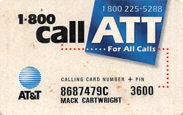 AT&T Calling Card - [3] Magnetic Cards