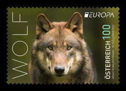 Austria 2021 Mih. 3582 Europa. Fauna. National Endangered Wildlife. Wolf MNH ** - 2011-... Ungebraucht