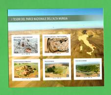 ITALIA :  FOGLIETTO - Parco Nazionale Dell'ALTA  MURGIA - 5 Val. X  1,10 €. MNH**  Del  24.05.2021 - Hojas Bloque