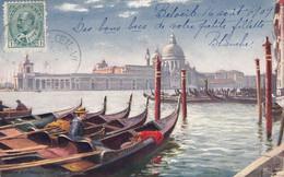 210 - Italy Italia Venice Venezia - Entrance Grand Canal - Written 1909 - By R. Tuck - No. 7037 - VG Condition - 2 Scans - Venezia (Venice)