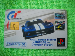 7154 Télécarte Collection CHRYSLER VIPER Playstation  Voiture Gran Tourismo  50U    ( Recto Verso)  Carte Téléphonique - Automobili
