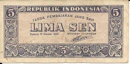 INDONESIA P.  14 5 S 1945 VF - Indonésie