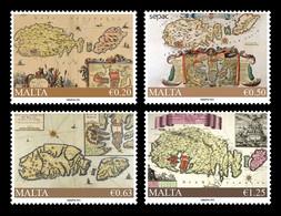 Malta 2021 Mih. 2165/68 SEPAC. Historical Maps MNH ** - Malte