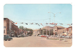 Vintage Postcard 1950's Thermopolis, Wyoming, Broadway, Business District. Unused, LSee Description AA - Other