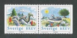 SUEDE 2001 - YT 2195/2196 - Facit 2236/2237 - Neuf ** MNH - Paire Horizontale - Année Lunaire Chinoise Du Serpent - Ongebruikt