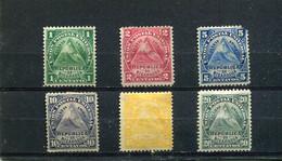Nicaragua 1882 Yt 13-18 * - Nicaragua