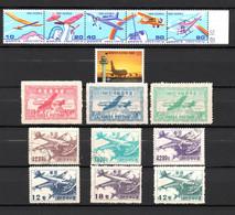 T1-27 Corée Du Sud N° 1113 à 1117 + PA N° 1 à 3 ** + 6 à 11 Oblitérés Et ** A Saisir !!!  Avions - Corea Del Sur