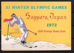 J1-13 Timbre En OR 23 Carats ** Jeux Olympiques  Sapporo 1972 A Saisir !!! - Ra's Al-Chaima