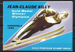 J1-13 Timbre En OR 23 Carats ** Jeux Olympiques  Grenoble 1968 Jean-Claude Killy A Saisir !!! - Schardscha
