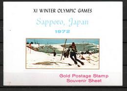 J1-13 Timbre En OR 23 Carats ** Jeux Olympiques  Sapporo 1972 A Saisir !!! - Ajman