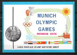 J1-13 Timbre En OR 23 Carats ** Jeux Olympiques  Munich 1972 A Saisir !!! - Ajman