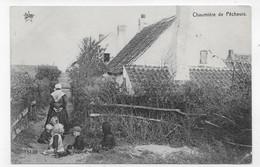 CHAUMIERE DE PECHEURS - N° 1139 - ENFANTS AU PREMIER PLAN - PETIT PLI ANGLE BAS A DROITE - CPA NON VOYAGEE - Other