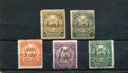 Nicaragua 1910 Yt 265-268 271 * - Nicaragua