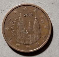 2010 - SPAGNA - MONETA IN EURO - DEL VALORE DI 5 CENTESIMI - CIRCOLATA - Spanien