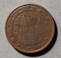 2008 - SPAGNA - MONETA IN EURO - DEL VALORE DI 5 CENTESIMI - CIRCOLATA - Spanien
