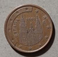 2001 - SPAGNA - MONETA IN EURO - DEL VALORE DI 5 CENTESIMI - CIRCOLATA - Spanien