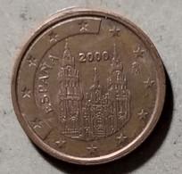 2000 - SPAGNA - MONETA IN EURO - DEL VALORE DI 2 CENTESIMI - CIRCOLATA - Spanien