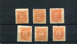 Nicaragua 1896 Yt 1-4 6-7 * Timbres-taxe - Nicaragua