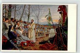 52102679 - Soldaten Verwundete Nonne Prieser Jesus Am Kreuz Kanone Pickelhaube Gebet WK I - Rotes Kreuz