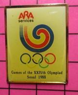 SP18 Pin's Pins / Beau Et Rare / THEME : JEUX OLYMPIQUES / ARA SERVICES SEOUL 1988 ESCARGOT - Giochi Olimpici