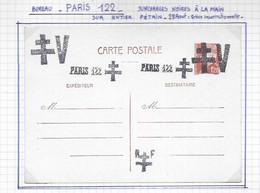PARIS  Surcharges Sur Carte Entier Postal - Liberation