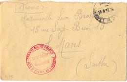 GUERRE 14-18 COMMISSION MILITAIRE FRANÇAISE – GITE D'ETAPES DE LIVOURNE (Italie) – TàD 18.8.17 - Guerre De 1914-18