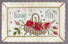 Bonne Fête. Carte Brodée (7447) - Embroidered