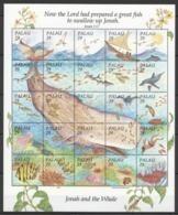 PK101 1993 PALAU MARINE LIFE JONAH & THE WHALE !!! 1 BIG SH MNH - Vie Marine
