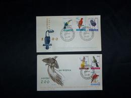 """BELG.1962 1216-1221 FDC (Antwerpen ) : """" Zoo Antwerpen -Philantropique : Zoo Anvers : Oiseaux """" - 1961-70"""