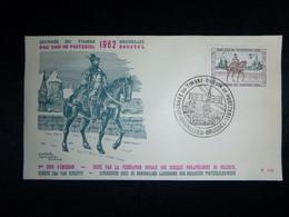 "BELG.1962 1212 FDC (Bruxelles ) : ""Journée Du Timbre / Dag Van De Postzegel 1962"" - 1961-70"