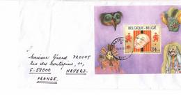 TRAZEGNIES : Feuillet Oblitéré 19.6.1996 MUSEE DU CARNAVAL Sur Enveloppe - Panes