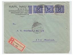ALLEMAGNE -- GERMANIE -- Lettre De FRANCFORT / MAIN Pour ABO (FINLANDE) Février 1924 -- - Covers & Documents