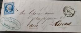 74-Seine-Inférieure ,PC  Sur N°14,càd Type 15,Montivilliers,DNovembre 1861,indice 4 - 1849-1876: Klassieke Periode