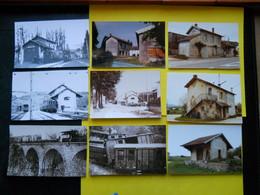 Photo ,TRAMWAY Et Gares Du JURA , Collection Bourneuf ,lire Descriptif ,Siroz ,Pratz Perrigny ,déraillement - Eisenbahnen