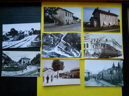 Photo ,TRAMWAY Et Gares Du JURA , Collection Bourneuf ,lire Descriptif ,Arinthod ,Morez ,Censeau .... - Trenes