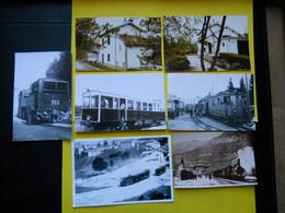 Photo ,TRAMWAY Et Gares Du JURA , Collection Bourneuf ,lire Descriptif ,Lavans ,Saint-Claude Les Rousses.... - Eisenbahnen