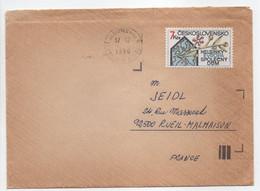 - Lettre Jablonec Nad Nisou (Tchéquie) Pour RUEIL-MALMAISON (France) 17.12.1990 - Bel Affranchissement Philatélique - - Brieven En Documenten