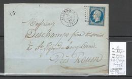 France - Lettre  - AILLY Sur NOYE - Somme + OR IDENTIFIE De MERVILLE -1866 - 1849-1876: Klassik