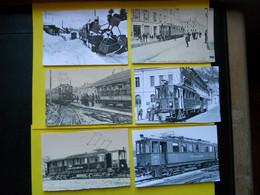 TRAMWAY Et Gares Du JURA , Collection Bourneuf ,6 Cp Gares ,édition BVA Lausanne - Ohne Zuordnung